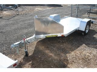 Motorcycle Trailer with Slide out Ramp