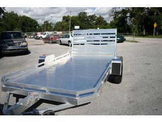 2013 Aluma All Aluminum Open S/A Utility Trailer