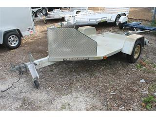 Motorcycle Trailer with Aluminum Deck