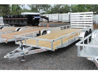 Open Aluminum Trailer with Wood Deck