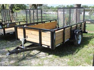 Utility Trailer with Three Board Sides