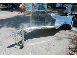 Aluma MC10 Motorcycle Trailer with Slide In Ramp