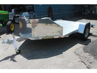 Motorcycle Trailer with Slide in Ramp