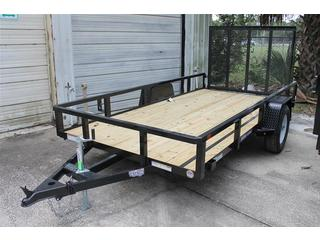 Utility Trailer with Treated Wood Deck