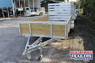Utility Trailer with Wooden Sides