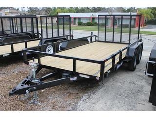Utility Trailer with Rear Ramp Door