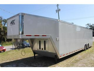 Gooseneck Car Hauler with Cabinets