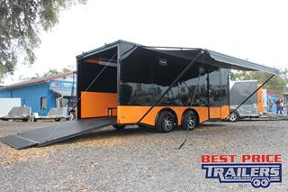 Motorcycle Trailer with Cabinets