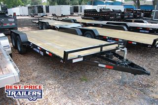 Sure Trac Car Hauler with Wood Deck