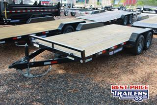 Sure Trac Open Car Hauler with Wood Deck