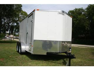 Cargo Trailer - White - V-nose