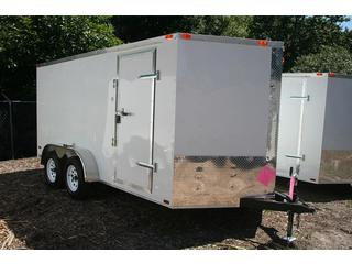 Cargo Trailer - Freedom - White - V-nose