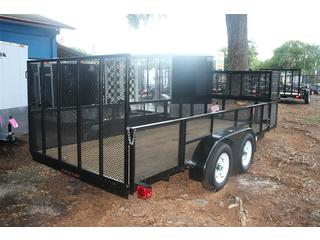 Utility Trailer - All Pro  - Ramp Gate - Black
