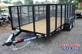 Sure Trac Utility Trailer with Mesh Sides