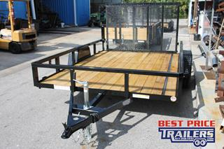 Utility Trailer with Fold Flat Ramp