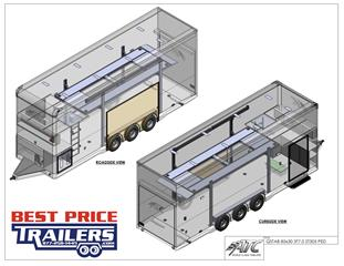 Stacker Trailer with Escape Door