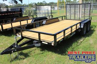 Sure Trac Utility Trailer with Fold Flat Ramps