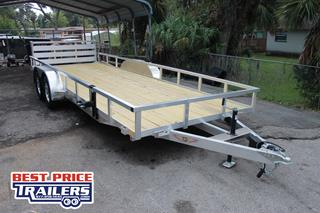 Aluminum Trailer with Spare Tire Mount