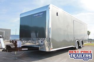 Sure Trac Car Hauler with Cabinets