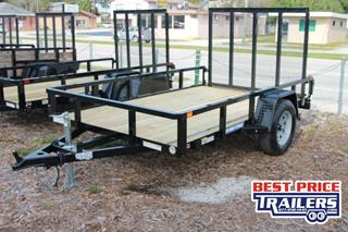 Sure Trac Utility Trailer with Wood Deck