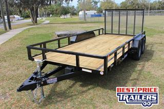 Sure Trac Utility Trailer with Fold Flat Ramp