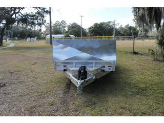 Open Aluminum Tilt-Bed Car Trailer 7x20