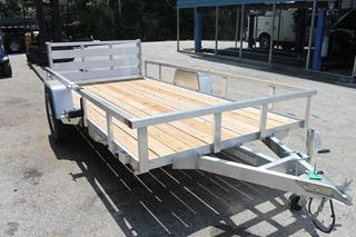 Tube Top Utility Trailer with Wood Deck