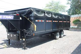 Dump Trailer with Tarp Installed