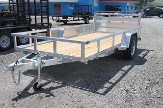 Aluminum Utility Trailer with Spare Tire Mount