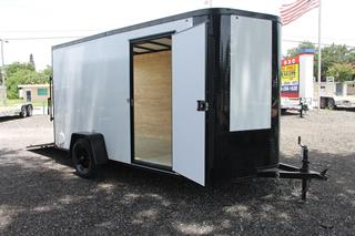 Cargo Trailer with Blackout Trim