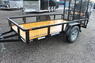 Tube Top Utility Trailer with Ramp Gate