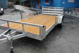 Aluminum Utility Trailer with Wood Deck