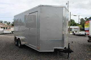 Cargo Trailer with Rear Ramp Door
