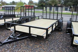 Utility Trailer with Fold Flat Gate