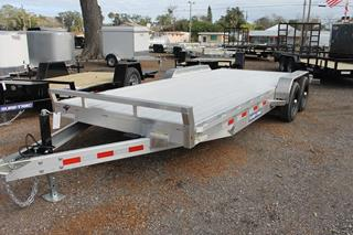 Open Car Hauler with Slide in Ramps