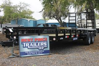 Tube Top Utility Trailer with Spring Assist Ramp