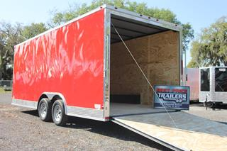 Enclosed Car Trailer in Red