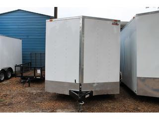 White 8.5x20 Cargo Mate Enclosed Trailer