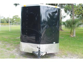 6x12 Black Enclosed Trailer