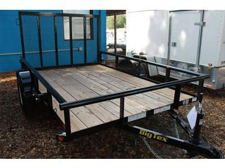 6.5x10 Black Big Tex Utility Trailer with Ramp Gate