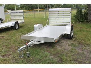 Aluminum Utility Trailer with Rear Ramp