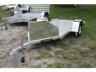 4.25x10.5 Aluminum Motorcycle Trailer with Rock Guard