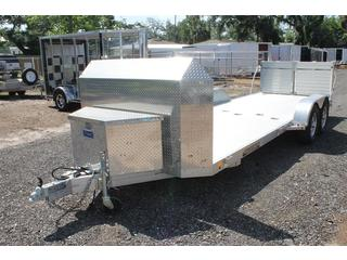 Motorcycle Trailer with Split Ramp