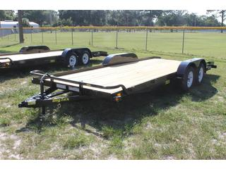 Car Trailer with Slide In Ramps