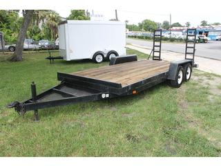 Utility Trailer with Stand Up Ramps