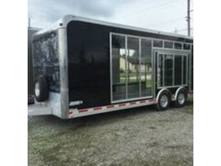 Aluminum Car Trailer with Clear Side
