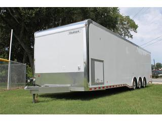 Aluminum Car Hauler with 120 volt Package