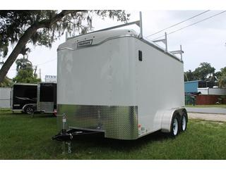Cargo Trailer with 3 Piece Rack