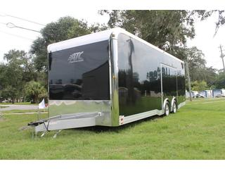 Aluminum Car Trailer with Premium Rear Ramp Door