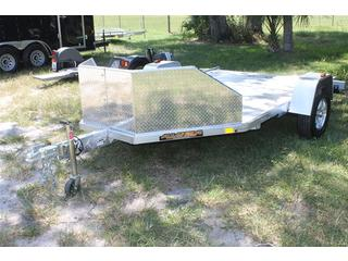 Open Motorcycle Trailer With Stone Guard